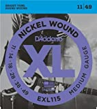 D'Addario Blues/Jazz Rock Nickel Wound Electric Guitar Strings 11-49 2 Pack