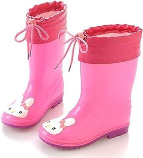 Children High Tube Cute Rain Boots Soft Rubber Kids Baby Cartoon Shoes Children's Water Shoes Waterproof Non-slip Rain Boots