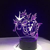 ナイトライト3D、7色イリュージョン変更ベットUsb Ledランプ寝室用キッズボーイズガールフレンドベストギフト