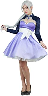 Women's Girls White Weiss Schnee Cosplay Short Dress