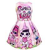 Dgfstm Surprise Doll Tank Kleid Ärmelloses Trägerkleid Knielang Mädchen Kinder Ballkleid Rosa...