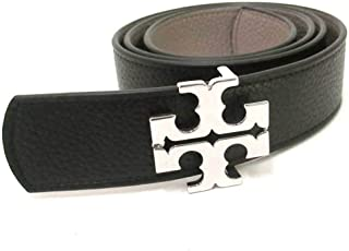 Tory Burch Women's Reversible Logo Leather Belt