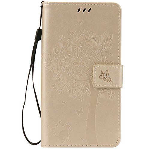 Nancen Compatible with Handyhülle Sony Xperia Z5 Premium / Z5 Plus Flip Schutzhülle Zubehör Lederhülle mit Silikon Back Cover PU Leder Handytasche Etui Schale