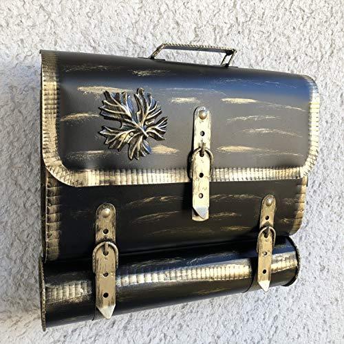 Wandbriefkasten Tasche Außergewöhnlich Briefkasten Postkasten Zaunbriefkasten mit Zeitungsrole Zeitungsfach aus rostfreiem Stahl verzinkt. Befestigungsmaterial GRATIS!