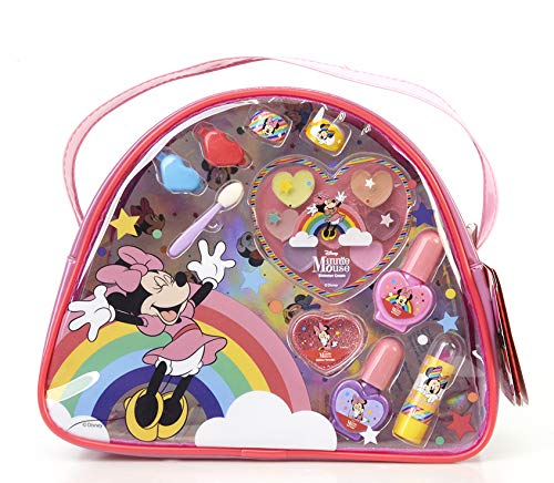 Minnie Mouse Magic Beauty Bag - Super Bolso con Neceser de Maquillaje - Set de Maquillaje para Niñas - Maquillaje Minnie Mouse - Productos Seguros en un Bolso del Tamaño Perfecto para Ir de Viaje