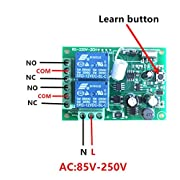 Baodanjiayou-AC-220V-2-Piezas-RF-433Mhz-Wireless-Remote-Controls-Switch-2CH-Relay-Receiver-Module