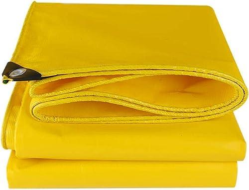 DJSMpb Baches Bache PVC Jaune Bache 500g   m2 Vêtements de Pluie résistants Imperméabilisant Prougeection Solaire Imperméabilisant épaisseur de linoléum 0.4mm (Taille   3  4m)