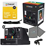 Polaroid OneStep+ Black i-Type Instant Camera 9010 Bundle with a Color i-Type Film Pack (8 Instant Photos) and a Lumintrail Cleaning Cloth