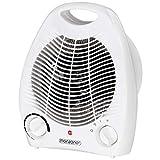 Monzana 2en1 Estufa y ventilador 2 niveles de calefacción 1000W 2000W Blanco compacto polivalente seguridad eléctrico