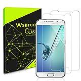 wsiiroon Samsung S6 Panzerglas Schutzfolie, [2 Stück] Anti-Kratzen Panzerglasfolie Galaxy S6, 9H Härte, Anti-Öl und Fingerabdruck,2.5D Runde Kante Displayschutzfolie S6
