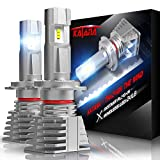 KATANA Fanless H7 LED Bulbs, Wireless All-in-One Conversion Kit   PHI Chips Super Bright 6500K Xenon White Halogen Replacement