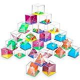 Confezione da Rompicapo per Bambini e Adulti 24Pcs,Rompicapo Puzzle Gioco di Abilità,Labirinto Cubo 3D,Mini Puzzle Palline,Regalini Mini Giochi Puzzle,Maze Ball Grande Regalini per Calendario Avvento