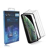 3パック クリア 2.5D 9H 強化ガラス iPhone X/XS XR XS MAX スクリーンプロテクター (プレミアム日本製強化ガラス) と取り付けフレームキット XR
