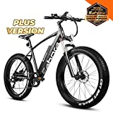 Eahora XC200 Plus Fat Tire Electric Bike Snow Bicycle 26' 4.0 inch Fat Tire E-Bike 750W 48V/10.4AH Electric Bicycle with Shimano 7 Speeds Lithium Battery Electric Bicycle, E-PAS System,Cruise Control