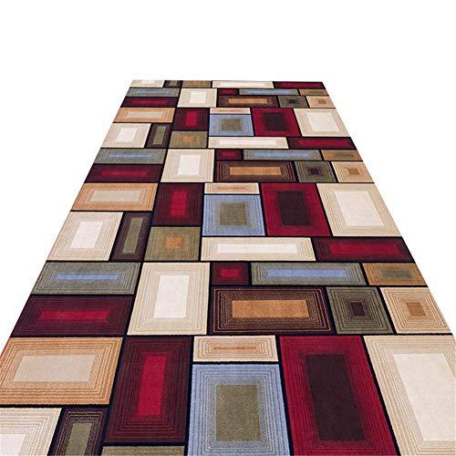 GANE Teppiche Shaggy Carpet Moderner Bodenläufer im minimalistischen Stil, beliebig lang zwischen 100 cm und 800 cm für Flur/Treppe/Küche/Schlafzimmer, rutschfest und langlebig, maschinenwaschbar