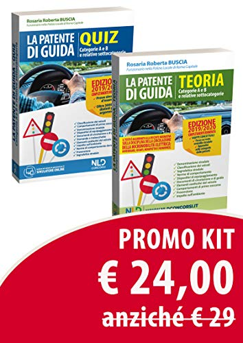 Kit patente di guida. Manuale teorico. Categorie A E B E relative sottocategorie. Quiz. Categorie A E B E relative sottocategorie. Manuale teorico + quiz