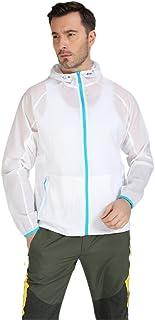 LANBAOSI Men's Lightweight Waterproof Outdoor Hoodie Jackets Quick Dry Skin Coat
