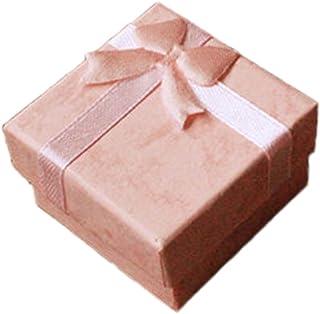 Lumanuby 1/pieza Wood Box Laser logotipo de boda anillo caja I Do madera aprox joyas cajas Serie 6/* 6/* 5.2/cm