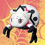 Peluches Araña de 18cm Que rodea la muñeca de araña araña Linda muñeca de Insecto de curación muñeca de Peluche Tejida Blanca