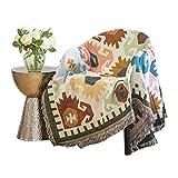 El Amortiguador del sofá Bohemio Americano de algodón de Punto Manta Manta Tema nórdica sofá de la Manta Cubierta Manta Manta (Color : Multi-Colored, Size : 130 * 180cm)