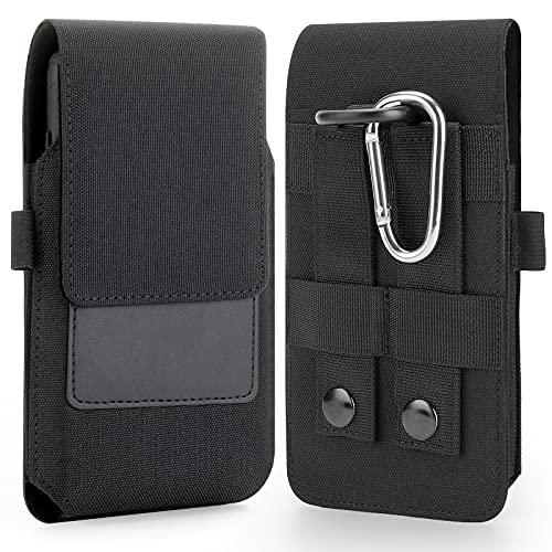 BECPLT Funda Militar táctica MOLLE de con Clip para cinturón para iPhone 12 Pro MAX/XR 6 6S Plus 7 Plus 8 Plus, Samsung Galaxy Note 8 9 Note 20 (se Adapta con una Funda Delgada)