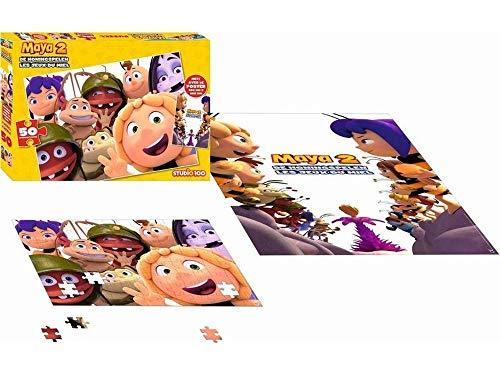 Studio100 MEMA00002250 Puzzel Maya met Poster: 50 Stukjes, 0-48 mnd