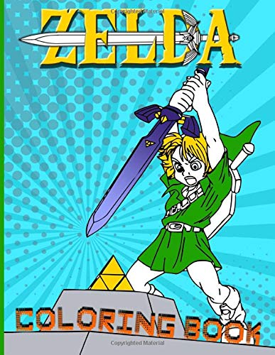 Zelda Coloring Book: Coloring Books For Adults, Tweens (Many Pages Bring Happiness)