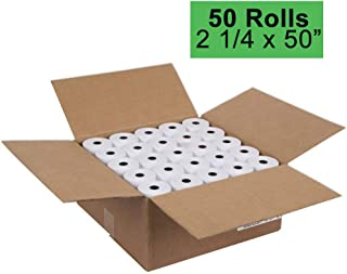 2 1/4 Thermal Paper 50 Rolls for Credit Card Machine POS Register Receipt Paper Roll (2 1/4 inch x 50 feet)