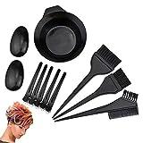 Demason – Juego de 10 pinceles para coloración de pelo, pinceles de coloración para el pelo, bandeja para tintar, almohadillas para las orejas, kit de pinzas de cocodrilo