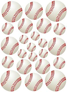 23 Baseballs Baseball Peel and Stick Vinyl Stickers Wall Art Graphics Decal