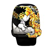 ZFRXIGN Elephant Sunflower Baby Car Seat Cover Nursing Breathable Scarf Carseat Canopy Multi-Use Cover Ups for Stroller High Chair Shopping Cart Gifts Cute