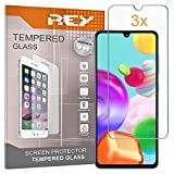 REY Pack 3X Panzerglas Schutzfolie für Samsung Galaxy A41, Bildschirmschutzfolie 9H+ Festigkeit, Anti-Kratzen, Anti-Öl, Anti-Bläschen