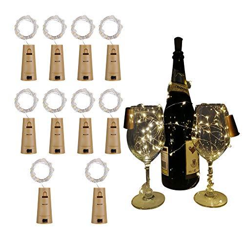 confezione da 8 danza matrimonio luci da bottiglia decorazioni da tavola 20-LED da 99 cm Natale LG0405 Reines-wei/ß decorazione festiva Halloween feste per bottiglie fai da te ATKKE