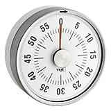 TFA Dostmann Puck Küchentimer, Eieruhr magnetisch, Timer, mit Restzeit-Anzeige, 0-60 Minuten, weiß, 38.1028.02,L 79 x B 32 x H 79 mm