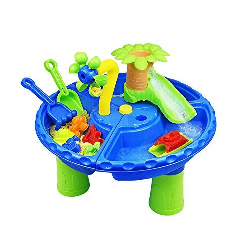 Juego de Juguetes de Playa para niños de 22 Piezas, Mesa de Arena y Agua, Mesa de excavación, Escritorio de Verano