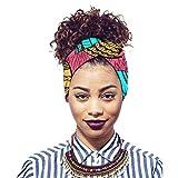 Xinvivion Mujeres Africanas Imprimen Turbante - la Venda del Pelo de la Diadema Del Pañuelo en la Cabeza del Algodón Tribal Tradicional Envuelve la Cabeza