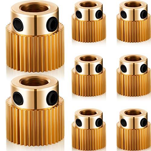 20 Stücke Extruderrad 3D Druckerteile Antrieb 40 Zähne Zahnrad Messing Extruderradgetriebe Kompatibel mit CR-10, CR-10S, S4, S5, Ender 3, Ender 3 Pro