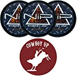 Nip Energy Dip Coffee 3 Cans with DC Crafts Nation Skin Can Cover - Cowboy