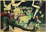 ATggqr Jigsaw Puzzle 1000 Piezas Anime Retro Patinaje sobre Hielo Yuri 50x75cm Rompecabezas Juegos Familiares ejercer la lgica y la coordinacin sensorial
