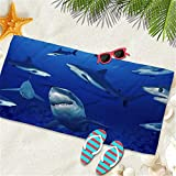 RENS Patrón De Tiburón Toalla De Playa Baño De Microfibra Toallas De La Piscina para Adultos Niños Estera De Arena Grande Súper para Campamento Super Dry B