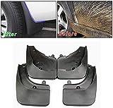 GLFDYC 4Pcs Guardabarros Coche Negros, para Peugeot 206 Delantera Trasera Mud Flap con Clavos de Tornillo, Protección contra Salpicaduras FaldóN Aletas Splash Fender