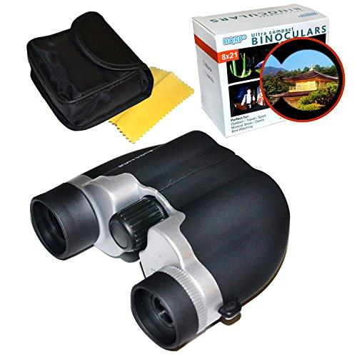 HQRP jumelles de porro 8x21 UCF noir compacts pour spectacle musical, les voyages, camping, cirque, observation des oiseaux, parades