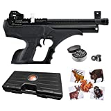 Wearable4U Hatsan Sortie Semi-Auto PCP Synthetic .177 Cal Air Pistol 100x Paper Targets and 500x .177cal Pellets Bundle