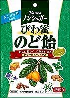 カンロ ノンシュガー びわ蜜のど飴 80g ×4袋