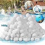 VAZILLIO Bolas filtrantes para piscina, 1400 g, reemplazan a 50 kg de arena para filtros de arena, piscina, bomba de filtro, filtro de arena de acuario