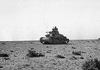 Home Comforts an Italian Carro Armato M13/40 Tank Crossing The Desert. Vivid Imagery Laminated Poster Print 24 x 36