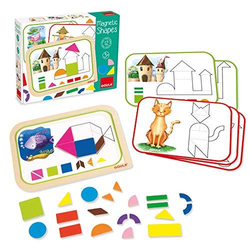 Jumbo Spiele Goula D51353 - Magnet-Legespiel Formen und Figuren