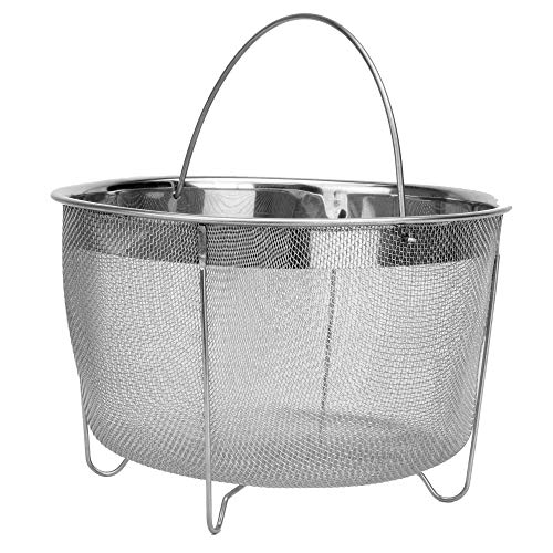 Steamer Basket | Stainless Steel Steam Basket | Pressure Cooker Accessories | Vegetable Steamer Basket | Strainer with Handle | M&W