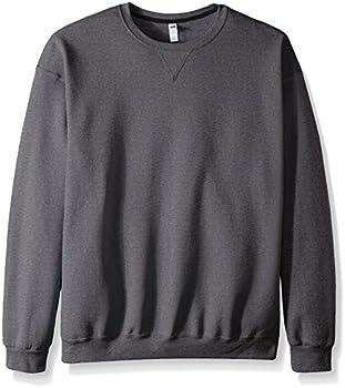 Fruit of the Loom Men's Fleece Crew Sweatshirt (L/M) (Charcoal Heather)