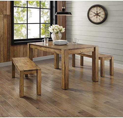 Better Homes Gardens Bryant Dining Table Rustic Brown Brown 2 Pack Sports Outdoors Amazon Com